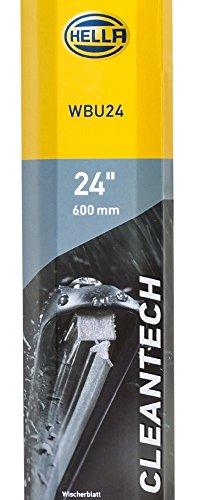 HELLA 9XW 358 053-241 Scheibenwischer - Cleantech WBU24 - Flachbalkenwischerblatt - für Linkslenker - 24