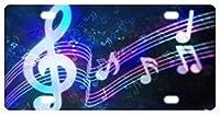 ブルーミュージックノートノベルティナンバープレート装飾フロントプレート