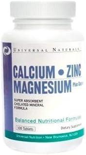 Universal näring kalcium zink magnesium högdoserad ben Supplement 100 tabletter