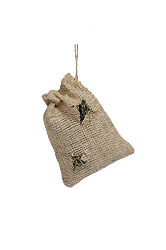Rosewood 19457.0 Naturals nachfüllbarer Jutebeutel mit leckeren Gräsern und Kräutern, Spielzeug/Leckerli aus 100% Naturmaterial für Kleintiere, Größe: 20x14cm