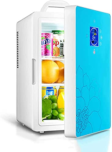 Mini Refrigerator 16L Semiconductor Fridge, Compact Portable Single Door Small Personal Freezer Coolbox Cooler Warmer Low Noise for Dorm Travel Home Camping Bedroom Office Car