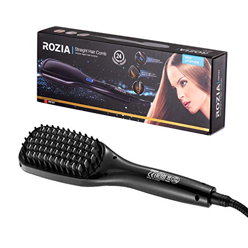 Plancha de pelo ROZIA con 4 niveles de temperatura ajustable