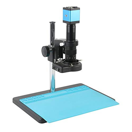 WEI-LUONG 14MP 1080P HDMI VGA Digital Digital Industrial 180X 300X C Montura Video Microscopio Cámara Para Herramientas de Reparación PCB Teléfono Color : A, Ampliación: 300X)