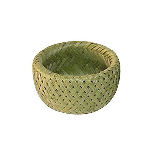 Lecimo 1 * Cesto Rotondo in bambù Intrecciato a Mano a Doppio Strato, per riporre, servire e Confezioni Regalo