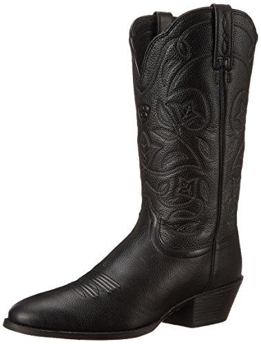 ARIAT womens Heritage Western R Toe Western Cowboy boots, Black Deertan, 8.5 US