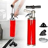 Desatascador de tuberías de aire comprimido, para limpiar tuberías, inodoros, fregaderos de cocina, bañeras