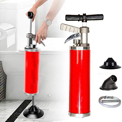Rohrreiniger Druckluft Abflussreiniger Saug-Druckreiniger Hochdruck Rohrgranate Abfluss-Reiniger zum Beseitigen von Rohr - Verstopfungen in Bad, Küche und WC