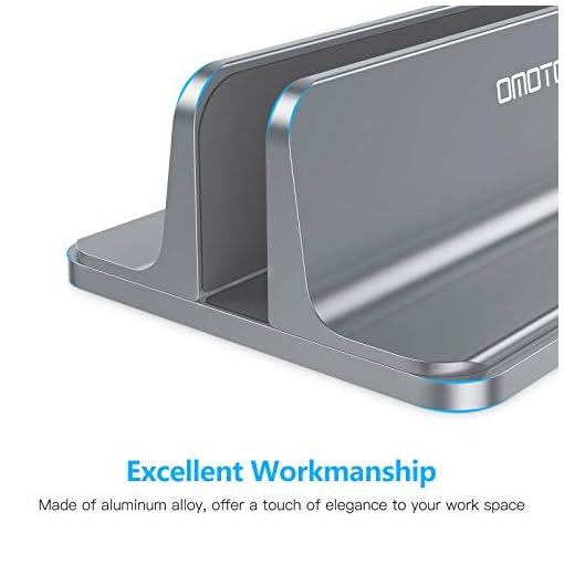 OMOTON Soporte Laptop, Atapta a Macbook Pro/Air, Huawei, DELL y Otros Portátiles y Netbooks, Vertical Soporte para… 7
