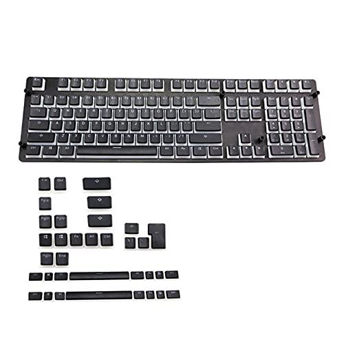 SGADSH RGB 143 KeyCaps ANSI Layout OEM PBT Pudding Double Skin Milk Shot Backlit Keycap Keyboard Cap