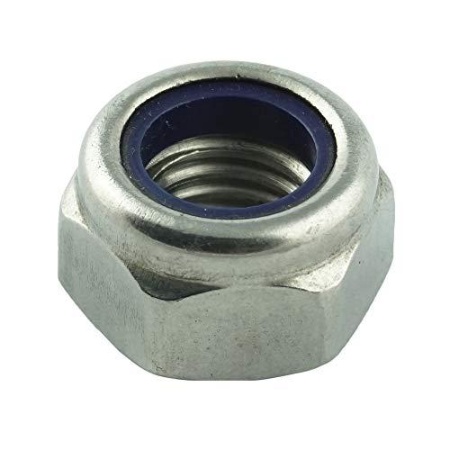 Eisenwaren2000 | M10 Sicherungsmuttern (10 Stück) - selbstsichernde Stoppmuttern niedr. Form DIN 985 - ISO 10511 - Edelstahl A2 V2A - rostfrei