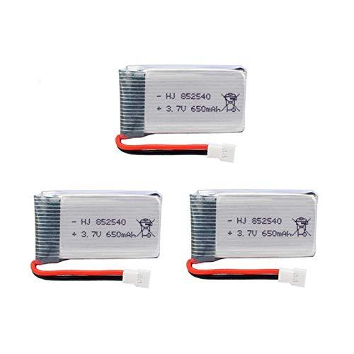 FSXMPL Batería Recargable de Lipo del abejón de 3.7V 650mAh, para SYMA X5C X5C-1 X5 H5C Quadcopter