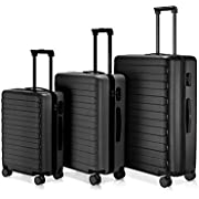 NINETYGO Luggage, 100% Polycarbonate Hardside Suitcase Luggage With TSA Approved Lock for Business & Travel, 360° Rolling Spinner Wheels, Unexpandable