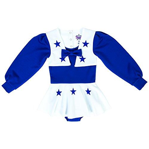 NFL Dallas Cowboys Infant DCC Cheer Uniform, ROY/WHT, 12M