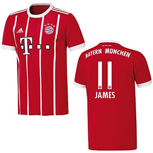 adidas Bayern Trikot Home Kinder 2018 - James 11, Größe:176