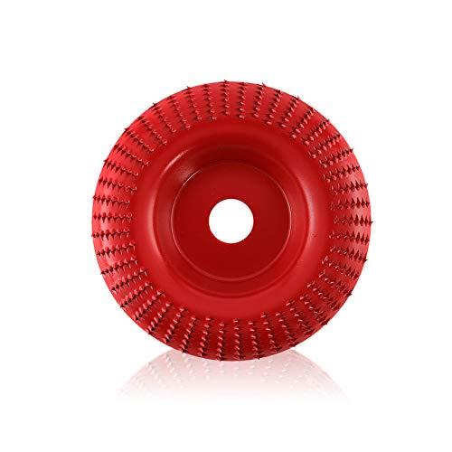 Dyna-Living - Disco de tallado de madera de alta calidad para amoladora angular, amoladora angular, amoladora angular, disco fresador, disco de fresado, disco flexible para madera y pulido (rojo)