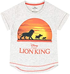 Camiseta de Manga Corta para niñas The Lion King Rey León