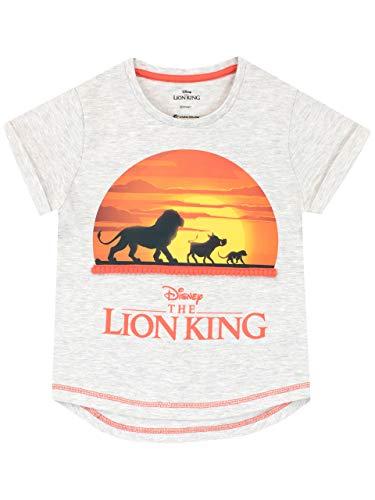Disney - T-Shirt - Roi Lion - Fille - The Lion King - Gris - 4-5 Ans