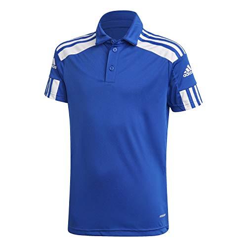 adidas SQ21 Polo Y Camiseta, Unisex niños, AZUREA/Blanco, 128 (7/8 años)