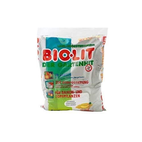 biolit Urgesteinsmehl fein vermahlen aus Diabas-Vulkangestein 7kg Bodenverbesserer für Balkon- & Topfpflanzen - Fördert Bodenfruchtbarkeit und Wasserspeicherung