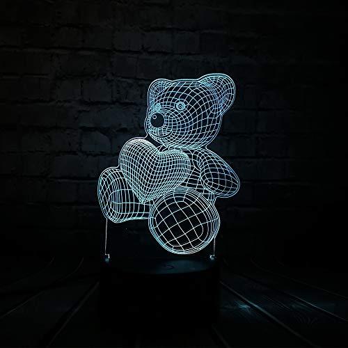 Baby Teddy Bear Home Liebe Herz Ballon 3D Usb Led Nachttischlampe Licht Home Home Home Home Home Home Home Kinder Spielzeug Weihnachten Gif T By My Side
