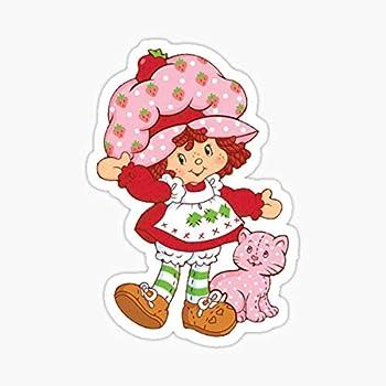 Vintage Strawberry Shortcake Sticker - Sticker Graphic - Auto Wall Laptop Cell Truck Sticker for Windows Cars Trucks