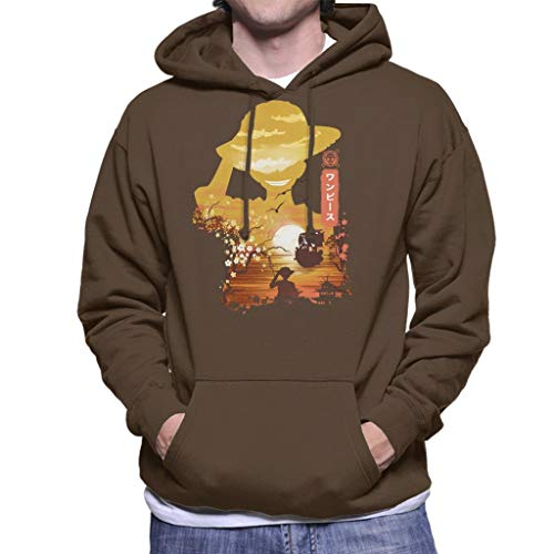 Ukiyo E Monkey D Luffy One Piece Men's Hooded Sweatshirt