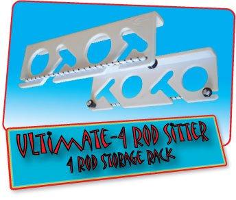 ColdTuna Ultimate 4 Rod Sitter - 4 Rod Fishing Rod Storage Rack