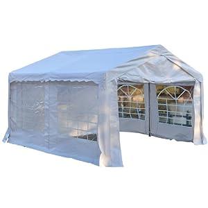 vidaXL Carpa de Fiesta Jardín Plegable Pop-up Acero Tela Crema 3x4,5m Cenador: Amazon.es: Hogar
