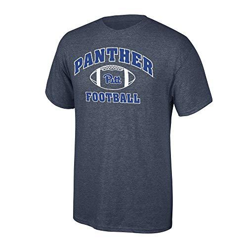 Elite Fan Shop Pittsburgh Panthers Men's Football T-Shirt Dark Heather, Large