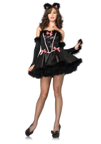 Ladies Catnip Cutie Cat Fancy Dress Costume Size 10-12 (disfraz)