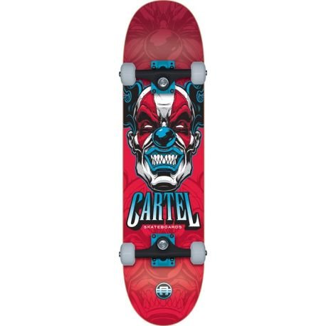 Cartel Skateboard, komplett, 8 This Red