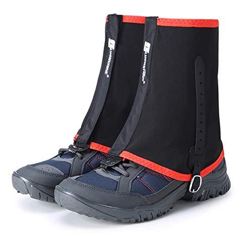 BIN Polainas de Senderismo Gaiters Bajos Tobillo Caminando por gaviotas Evitar cubros de Zapatos Protectores de Arena. Paseos de Botas a Prueba de Viento