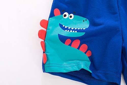 YJWFHPU Boys Dinosaur Shorts Cotton Blue Trunks Boardshorts for Little Boys 2-7 Years