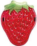 xyl Materasso ad Aria a Forma di Fragola, Stampa realistica, Fila Galleggiante Gonfiabile con Frutti di Fragola, Multicolore