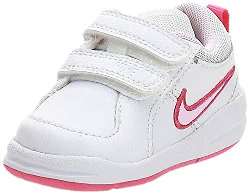 Nike Unisex-Kinder PICO 4 (TDV) Lauflernschuhe, Weiß White Prism Pink Spark, 23.5