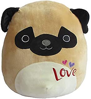 Squishmallows Happy Birthday 2019 Collectible Plush Figure Gift Original 16 Inch (PAM THE PUG) Limited Edition Super Soft Toy Pillow Buddy Stuffed Animal Bedtime Playtime FUN - Kids Toddler Girls Boys