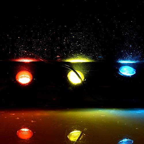 FOEERS Submersible LED Fountain Lights, 6W 500MA Waterproof Underwater Energy Saving for Fish Pond Tank Pool Water Garden (2 led Light)