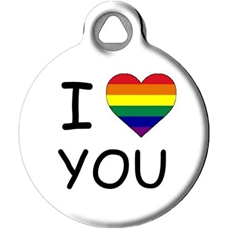 Customizable dog tag perfect Valentine/'s day gift idea for dog lover partner super cute shrink plastic pet tag