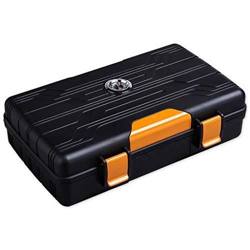 Jia He boîte à cigares Bois de cèdre, Cave à cigares en Bois de cèdre Humidor Cigar Boîte de Rangement Piano Peinture 2 Couleur en Option (Color : B)