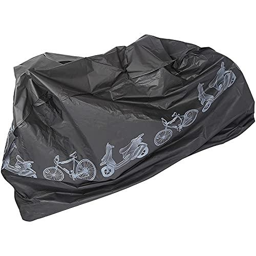 CHENXU Funda para Bicicleta Exterior Cubierta de Lluvia de Bicicleta,Anti-Ultravioleta/Agua/Polvo Cubierta de Bicicleta Ligera con 2 Orificios de Bloqueo para Proteger su Bicicleta