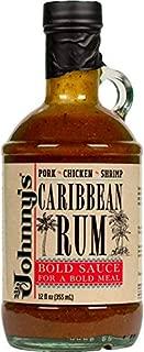 Johnny's Caribbean Rum Cooking Sauce 12 oz