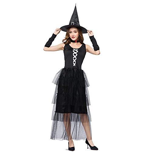 Fashion-Cos1 Clásico Disfraz de Bruja de Halloween Fantasma de ...