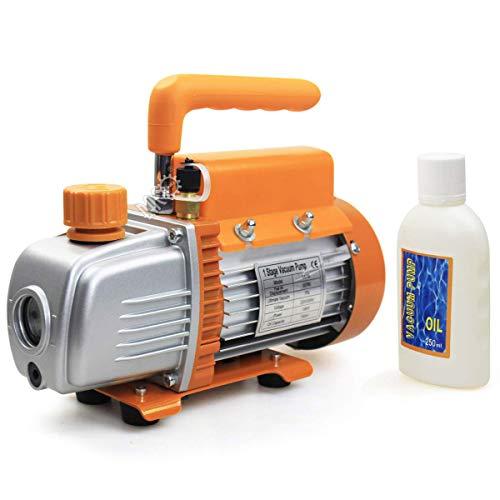 BACOENG 3CFM Einstufige Vakuumpumpe Unterdruckpumpe Vakuum Pumpe 85 L/Min