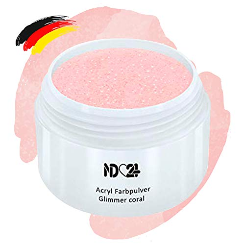 Acryl Farbpulver Glimmer Coral Rosa - Feinstes Farb Puder Pulver Powder - Studio Qualität