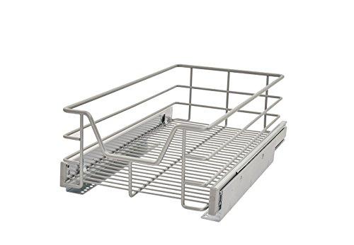 ClosetMaid 32101 Premium 11.5-Inch Wide Kitchen Single Tier Cabinet Pull Out Basket, Platinum