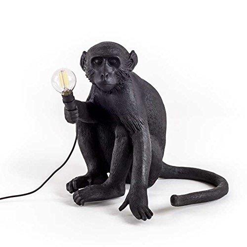 TAI2 Lampada da Parete a LED, lampadario, Lampada da Tavolo, Lampada da Terra, Seeksung Ristorante Arte personalità Illuminazione, Camera da Letto Moderna Lampada Scimmia caffè Nero E27 Lampada, C