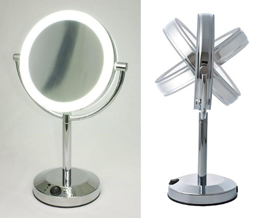のため寛容なベッドを作る【ハイクオリティ 拡大鏡】 LEDライト搭載 真実の鏡DX 【両面型】