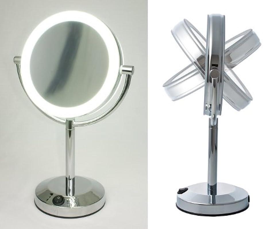 海里権威苦しみ【ハイクオリティ 拡大鏡】 LEDライト搭載 真実の鏡DX 【両面型】