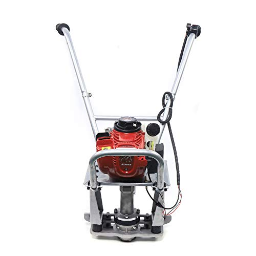 4 Stroke Gas Concrete Wet Screed Commercial Power Screed Vibratory Screed Power Unit Wet Concrete Screed Board Cement Road Construction Fits 1-5M Blade Low Fuel Consumption