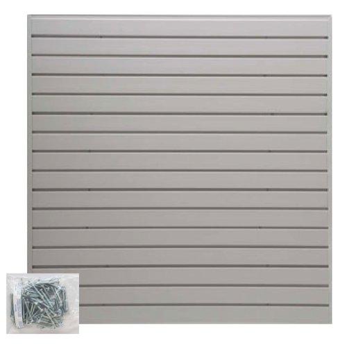 Jifram Easy Living 01000021 EasyWall Slatwall Kit, Light Gray